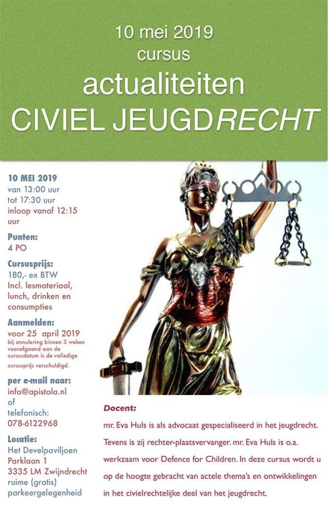 Cursus civiel jeugdrecht 2019
